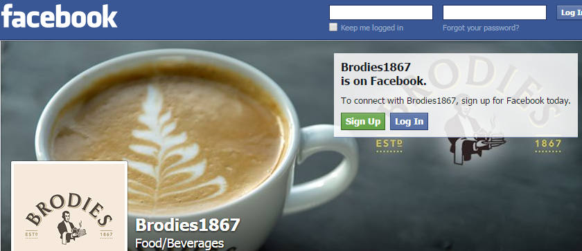 Brodies Tea Joins Facebook and Twitter